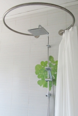 Tringle rideau de douche circulaire galbobain - Tringle a rideau arrondie ...